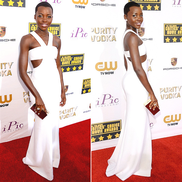 Lupita Nyong'o arrives at the TIFF HFPA / InStyle Party